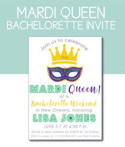 Mardi Queen Bachelorette Theme