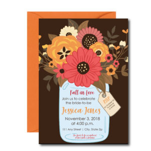 Mason Jar Fall Bridal Shower Invite
