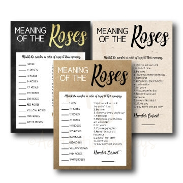 Meaning of Roses Shower Game