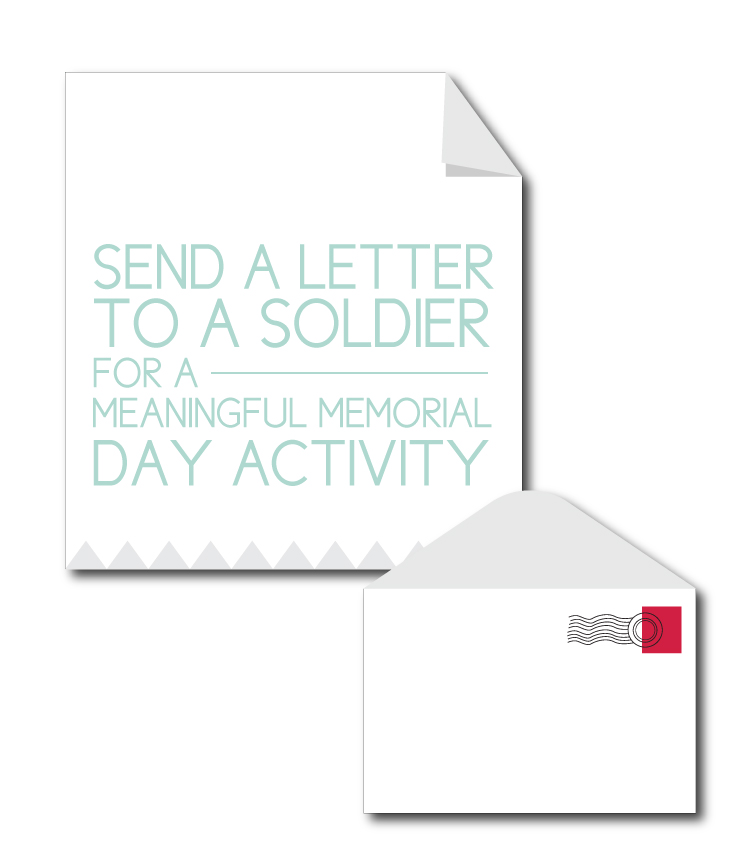 Send a letter to a soldier for a meaningful Memorial Day activity
