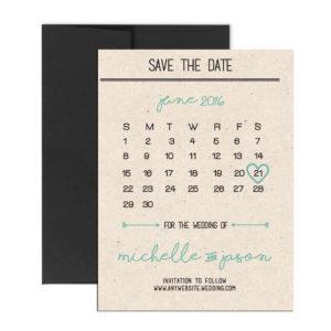 simple calendar magnet