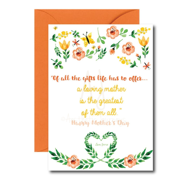 Floral Card for Mom