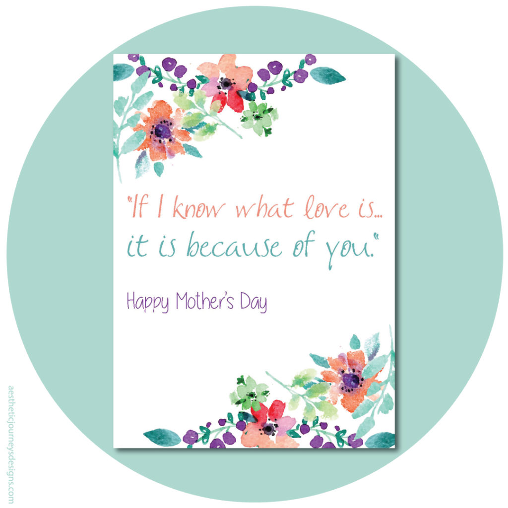 If I know what Love is, Quote about Moms