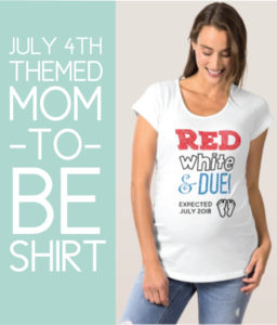 Maternity Shirt for 4th of July Gender Reveal