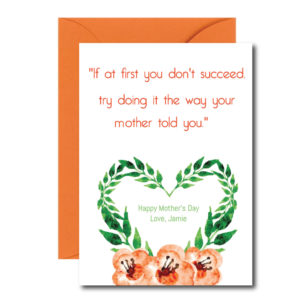 Honest Mother's Day Card