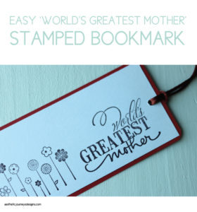 Easy World's Greatest Mother Bookmark