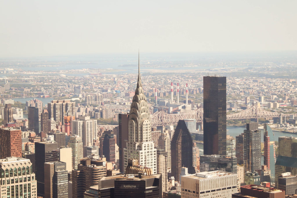 View New York City from the top of the Empire State Building