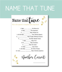 Music-Themed Baby Shower Game