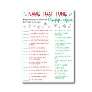 Name that Tune Christmas Game