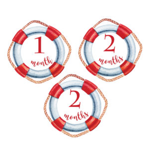 nautical baby milestone stickers