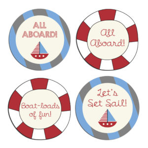 nautical themed stickers