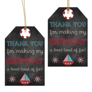 nautical party tags