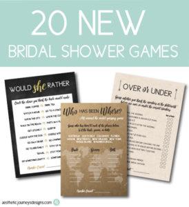 New Bridal Shower Games