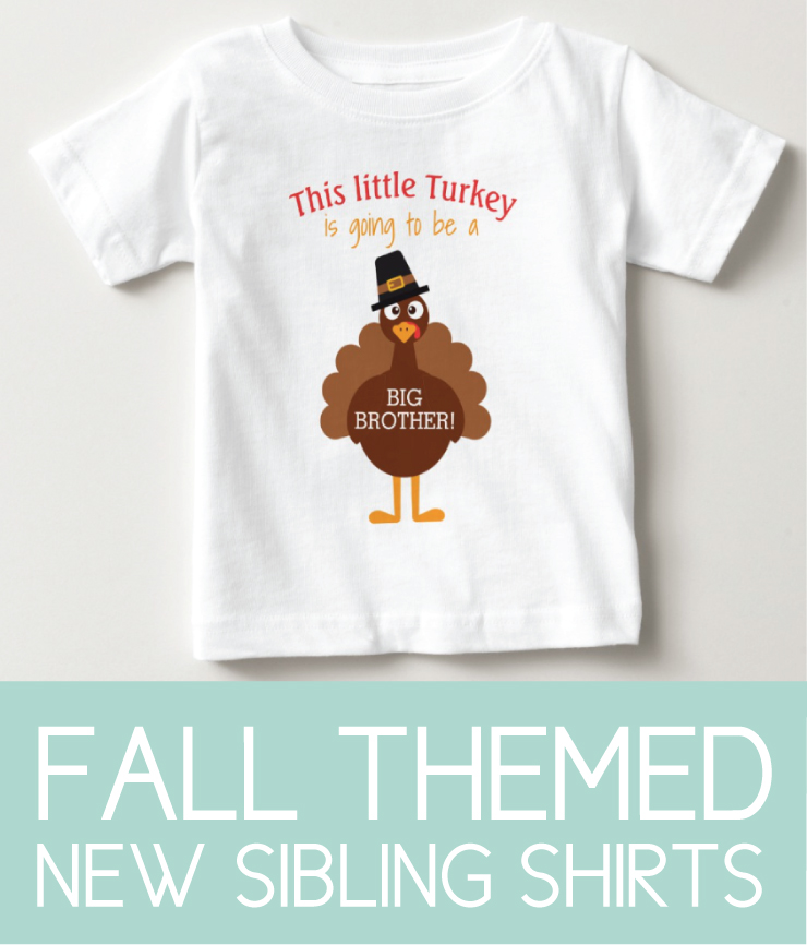 Sibling Shirts for a fall themed Pregnancy announcement