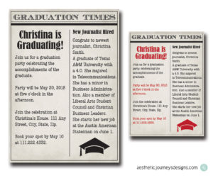 Newspaper Graduation Invites