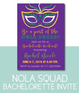 NOLA Squad Bachelorette Invite