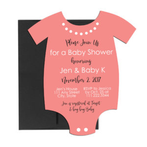 onesie baby shower invite