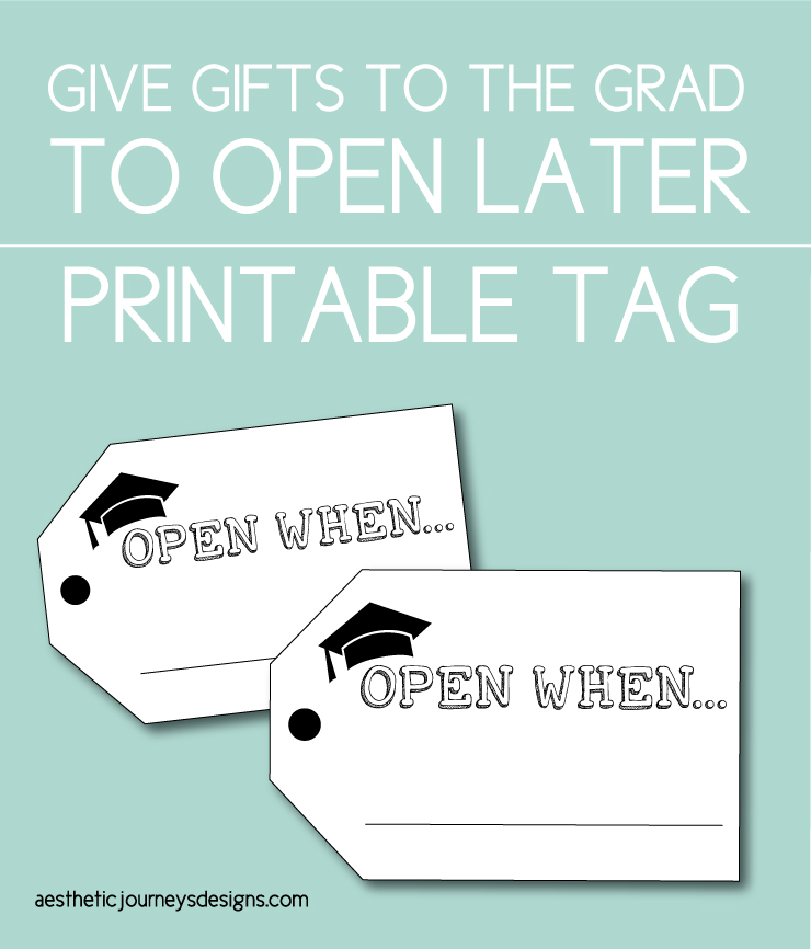Open Later Gift Tag