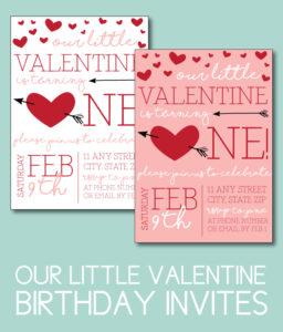 Our Little Valentine Birthday Invites