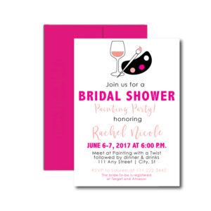 Painting Bridal Shower Invite