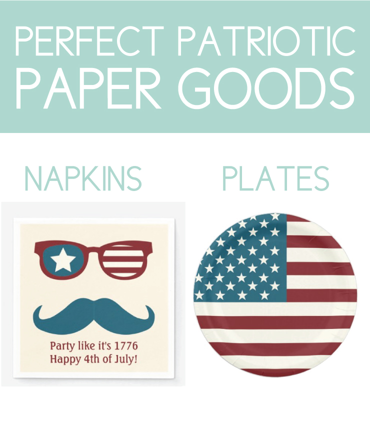 Patriotic paper goods for july 4th bbq