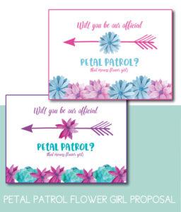 Petal Patrol Flower Girl Proposal