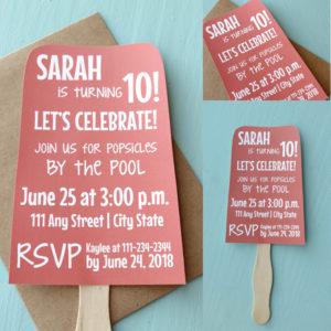 Popsicle Birthday Party Invite