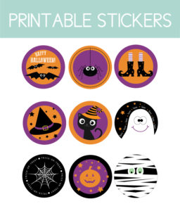 Printable Stickers for Halloween