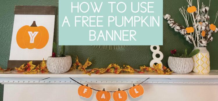 pumpkin banner how to