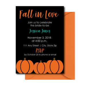 Classic Pumpkin, Bridal Shower Invite