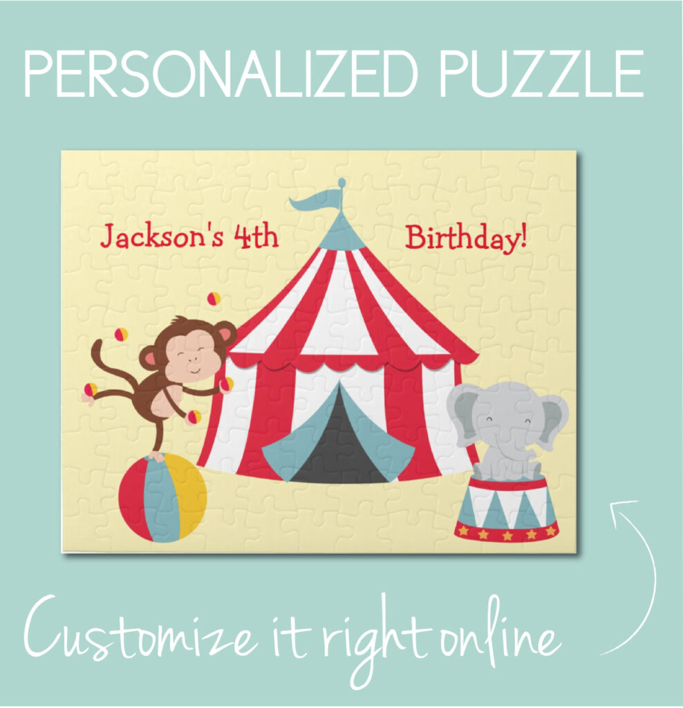 Personalized circus puzzle