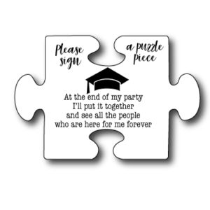 Graduation Guest Book Puzzle Sign
