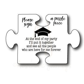 Graduation Guest Book Puzzle Sign