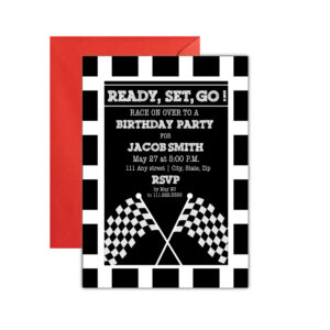 Race Car Party Invite