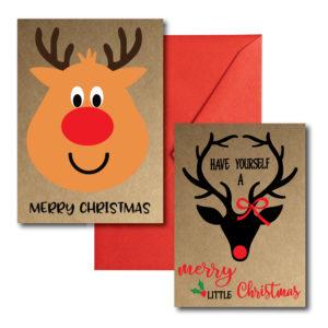 Printed Reindeer Cards