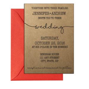 Simple Rustic Cursive Invite