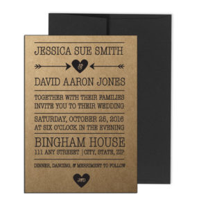 Rustic Wedding Invite with Arrows