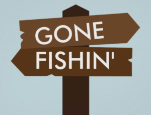 Gone Fishing Party Sign