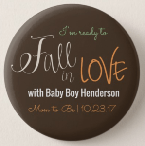 Fall Baby Shower Badge