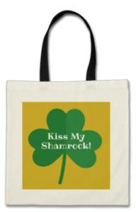 Kiss My Shamrock Tote Bag