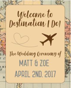Wedding Sign- Destination I Do