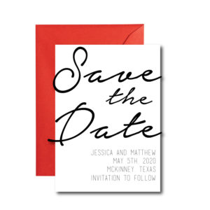 Simple Cursive Save the Date