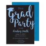 Simple Cursive Graduation Invite