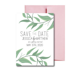 Simple Greenery Save the Date