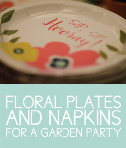 Floral Plates and Napkins for a Garden Sip and See Party