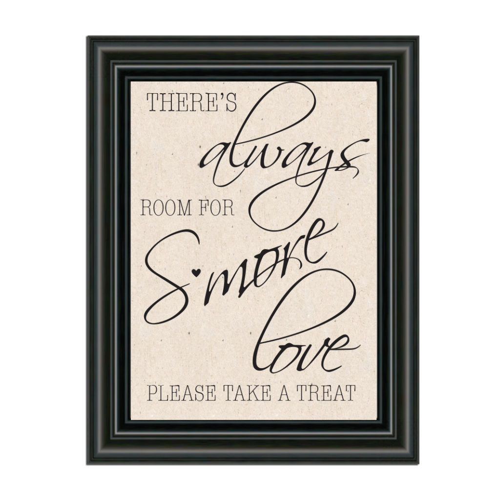 S'more Love Wedding Sign
