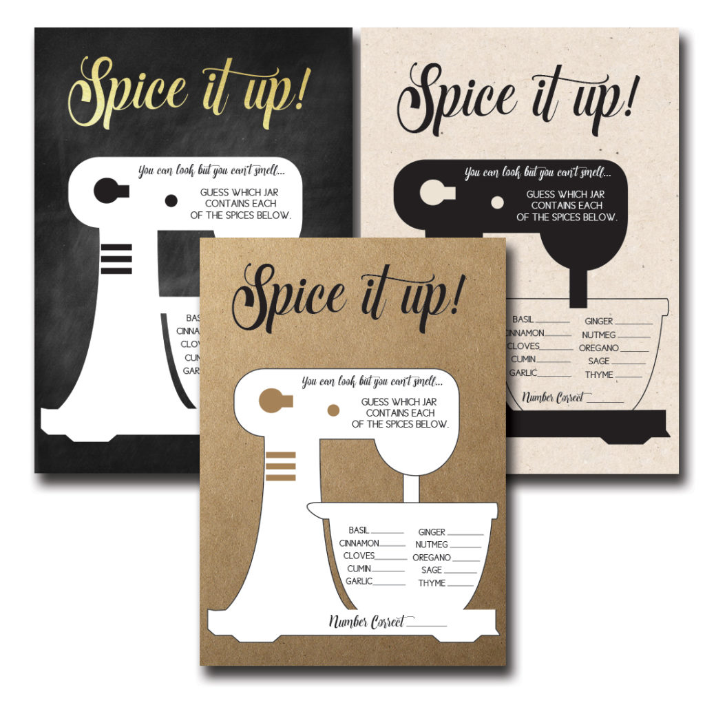 Spice it Up Bridal Shower Game