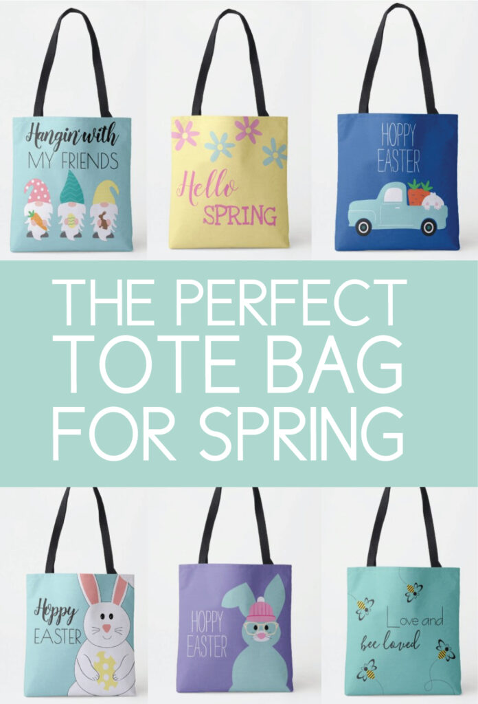 spring themed tote bags