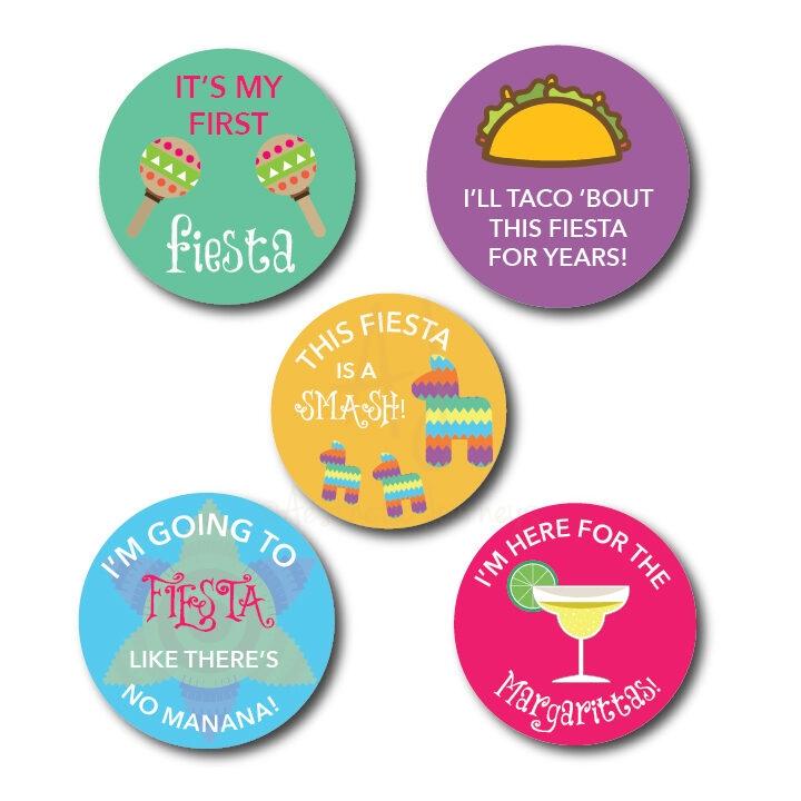 Fiesta Themed Stickers