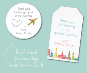 Purchase stickers or tags on Zazzle